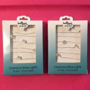 Diamond LED wire lights